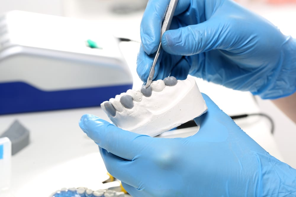 Dentist Preparing Prosthetics